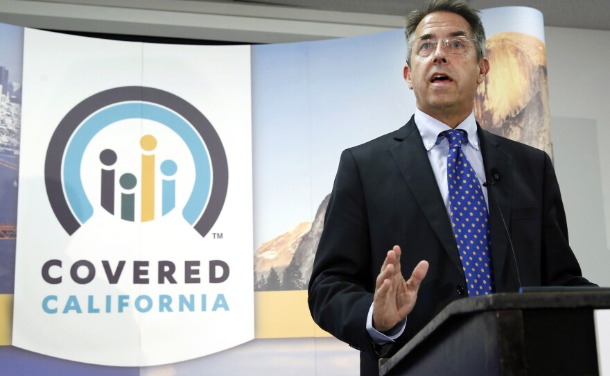 Peter Lee, executive director of Covered California, the state's health insurance exchange, talks at a news conference in Sacramento, Calif, Nov. 13, 2013.
