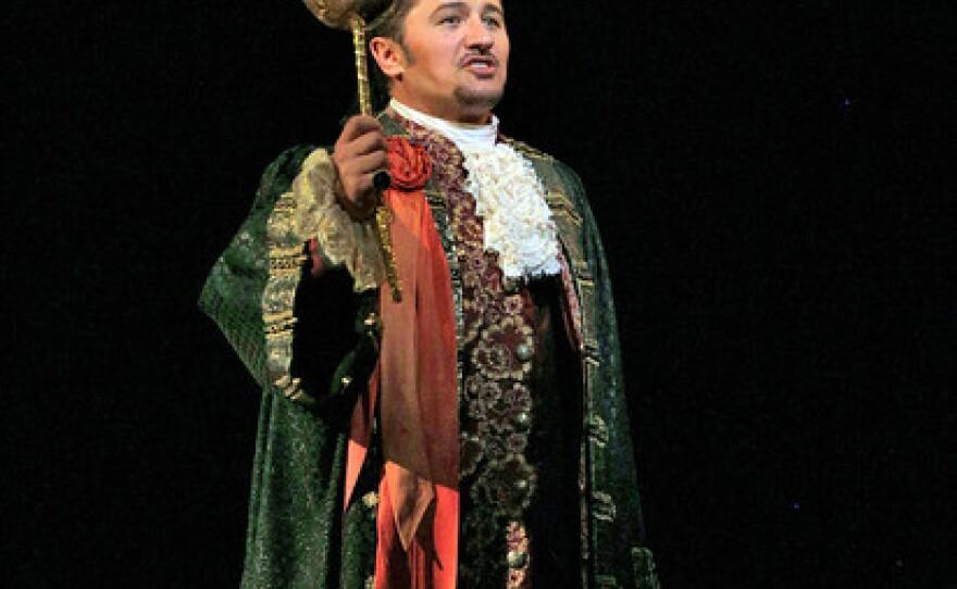"Polis tenor Piotr Beczala is King Gustav III in San Diego Opera's ""A Masked Ball."""