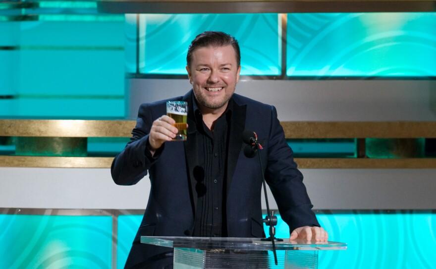 Ricky Gervais introducing Mel Gibson