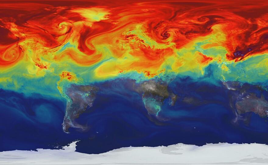 A NASA supercomputer model provides a new portrait of a greenhouse gas.
