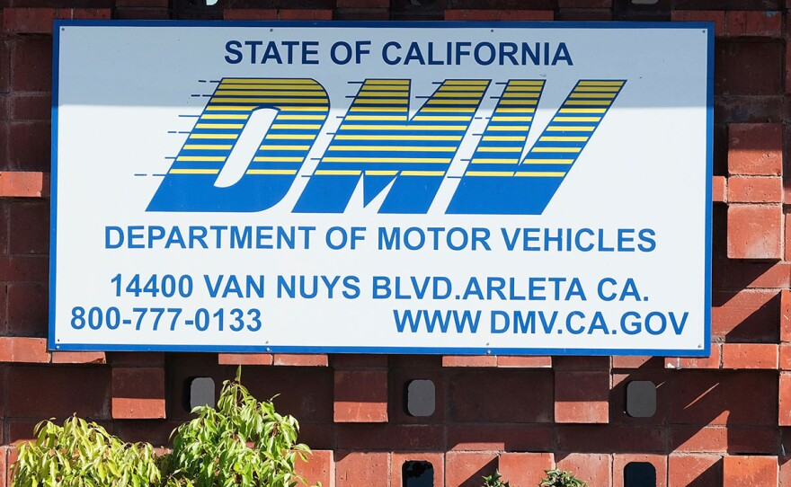 The California Department of Motor Vehicles office in the Arleta neighborhood of Los Angeles is seen Tuesday, April 9, 2019.