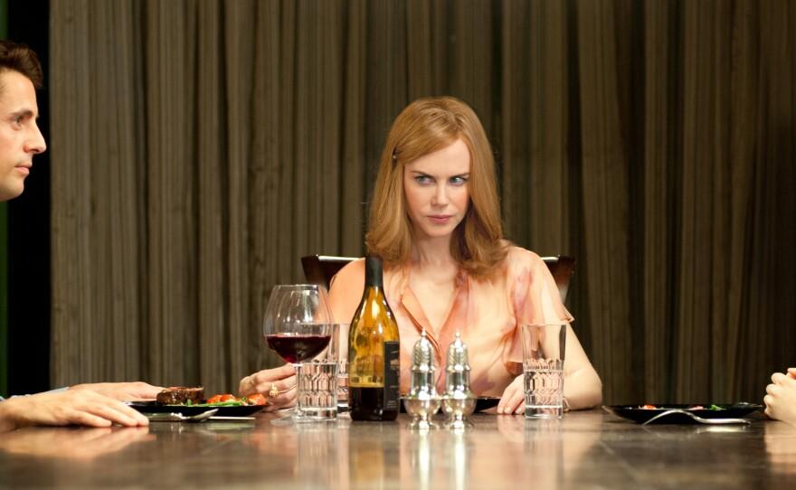 "Matthew Goode, Nicole Kidman, and Mia Wasikowska are the odd family at the center of ""Stoker."""