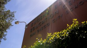 The outside of the San Diego Unified School District Education Center is shown on May 8, 2018.