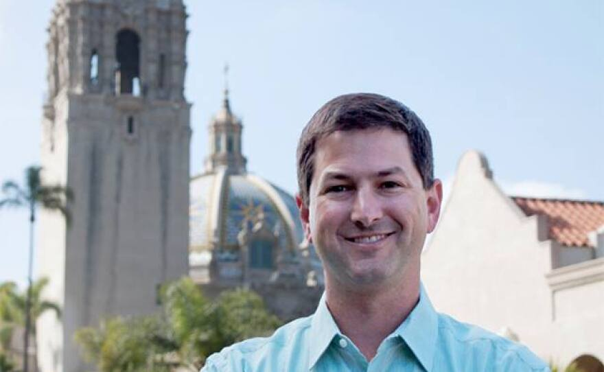 Chris Ward, a candidate for San Diego City Council, is pictured at Balboa Park in this undated photo.