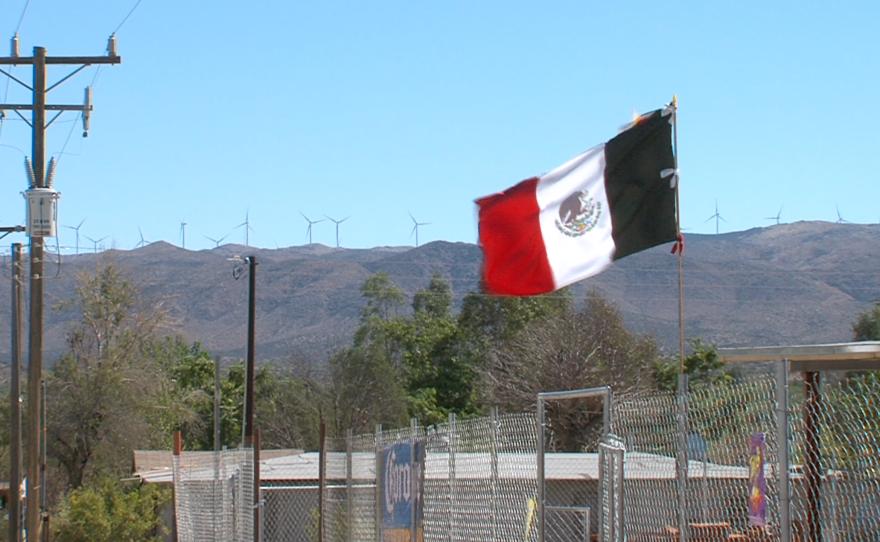 The view of the wind farm Energía Sierra Juárez from Jacume in Baja California, Sept. 27, 2015.