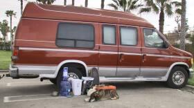 Photo of van parked in Ocean Beach, March 19th, 2019.