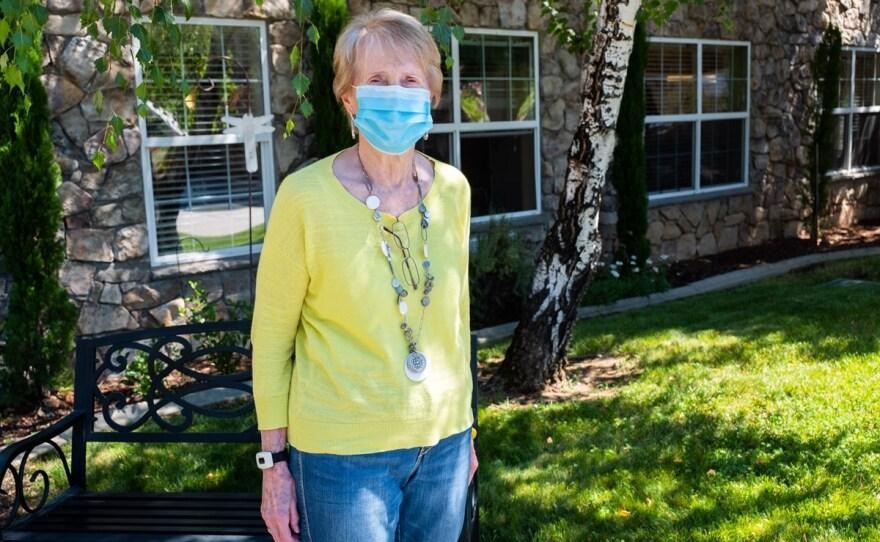Resident Betty Johnson at Atria Senior Living in Grass Valley Thursday, July 30, 2020.