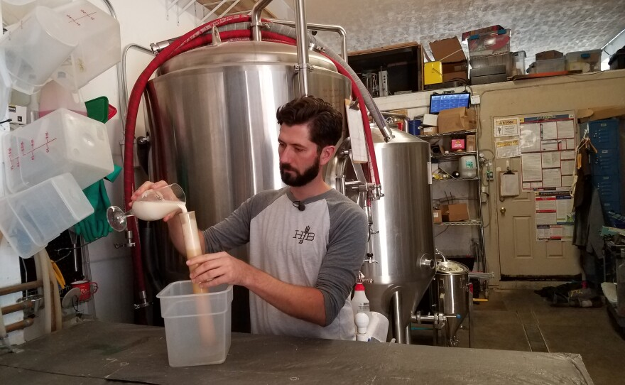 George Thornton works at his North Park brewery Home Brewing Company, Sept. 6, 2018.