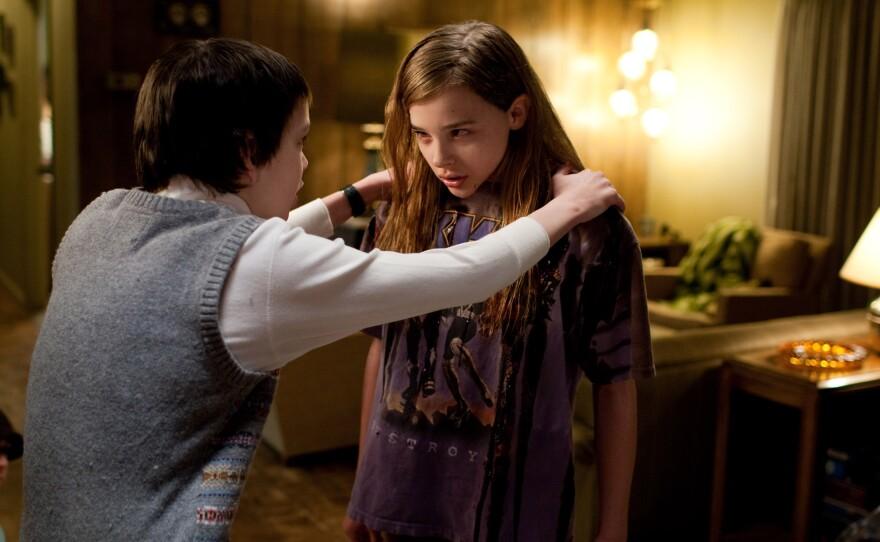 """Kodi Smit-McPhee and Chloe Grace Moretz in """"Let Me In."""""""