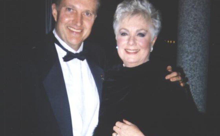 Author Walter Meyer seen here with actress Shirley Jones in 2002.