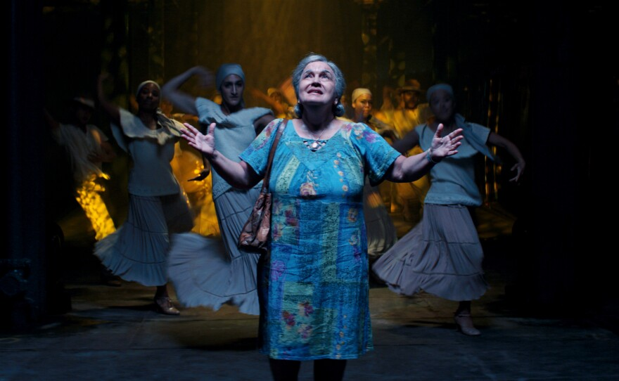 """Olga Merediz recreates her role of Abuela Claudia in the film adaptation of """"In the Heights."""""""