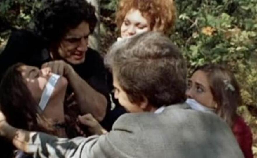 """A disturbing scene of violence from the original """"The Last House on the Left,"""" 1972."""