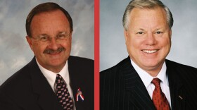 Oceanside Mayor Jim Wood, left, is seeking to unseat five-term San Diego County Supervisor Bill Horn, right.