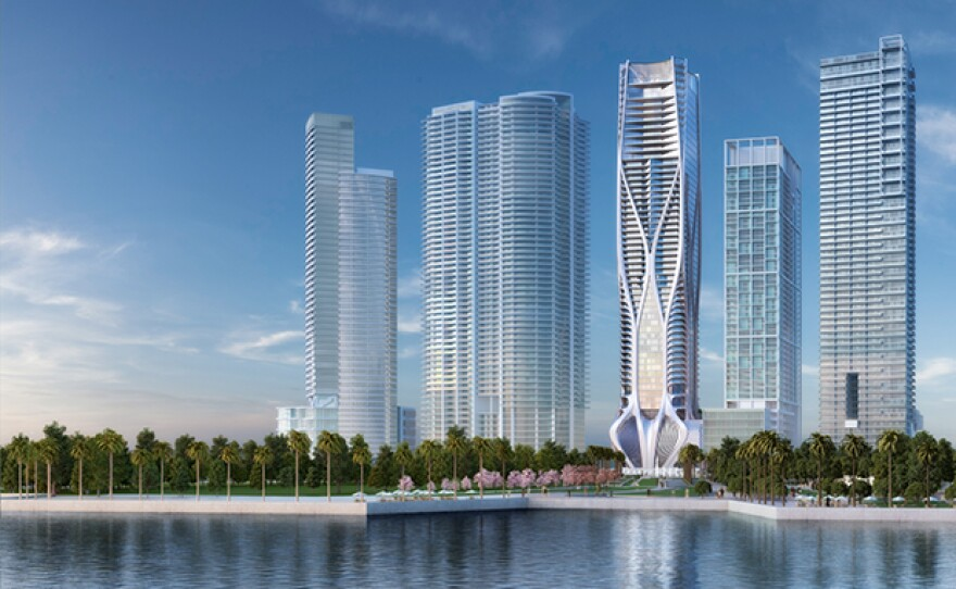The Scorpion Tower marketing - waterfront finished concept.