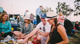 People have a picnic at San Diego Symphony's Bayside Summer Nights in 2017.