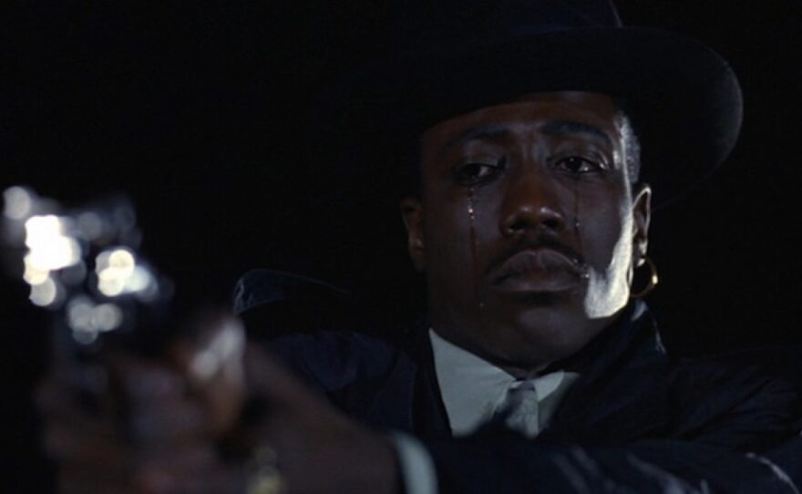 """Wesley Snipes delivered a breakout performance in Mario Van Peebles directorial debut """"New Jack City"""" (1991)."""