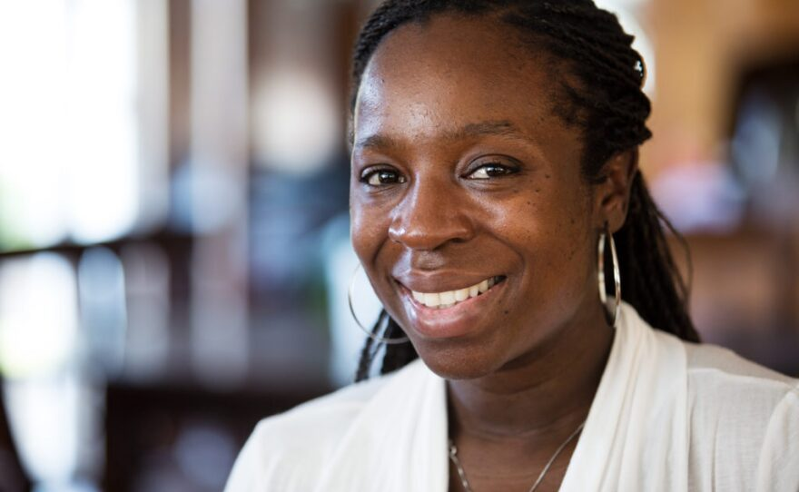 Lase Ajayi, a Scripps Palliative Care and Pediatric Hospice physician who trained at San Diego Hospice, is shown in this photo, Sept. 6, 2017.