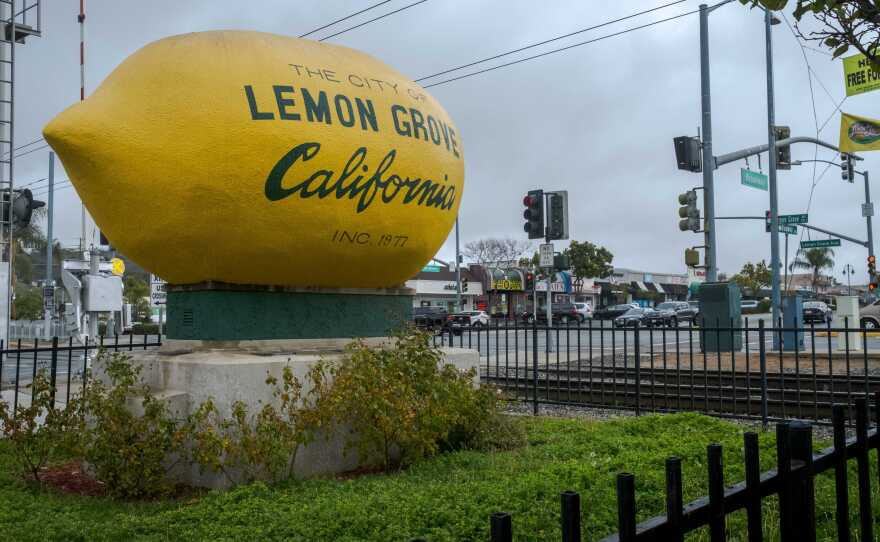 """The """"Lemon"""" in Lemon Grove, part of the 79th Assembly District, which is in the midst of a special election to replace Dr. Shirley Weber, March 24, 2021."""