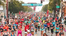 Runners fill Adams Avenue in San Diego during a Rock 'n' Roll half marathon in this undated photo.