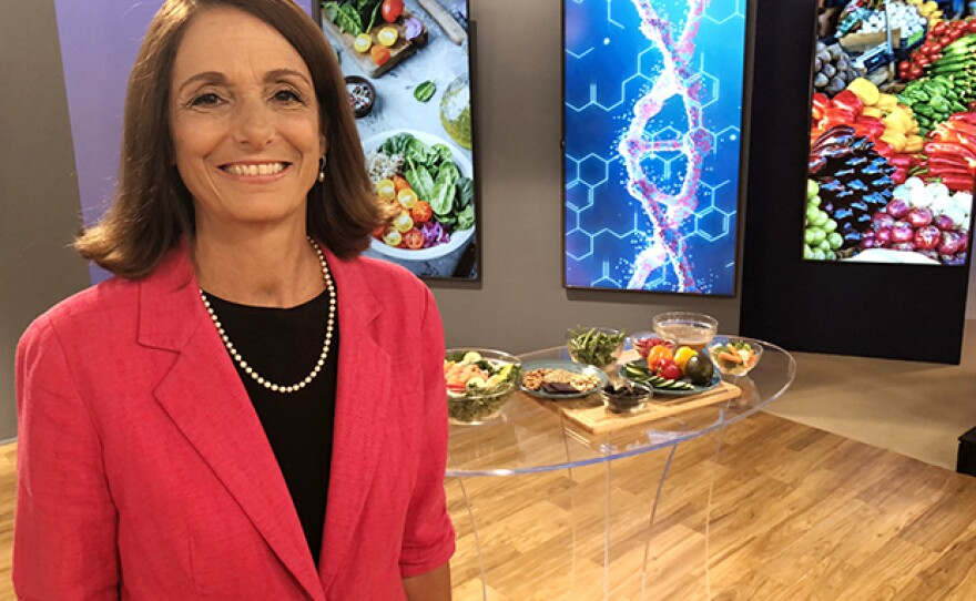 """Dr. Mimi Guarneri on the set of """"Live Better Now."""""""
