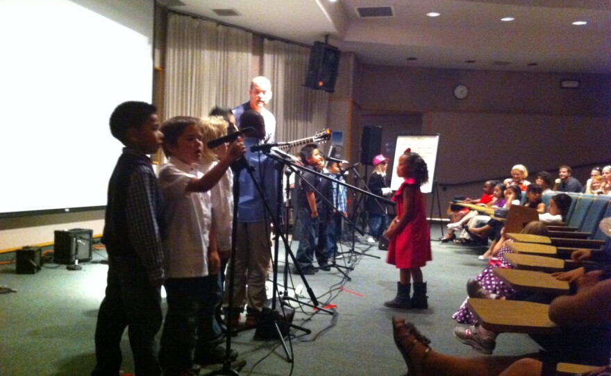 Jon Schwartz and his students play their hearts out for friends, family members and future teachers at Cal State San Marcos, May 9, 2012.