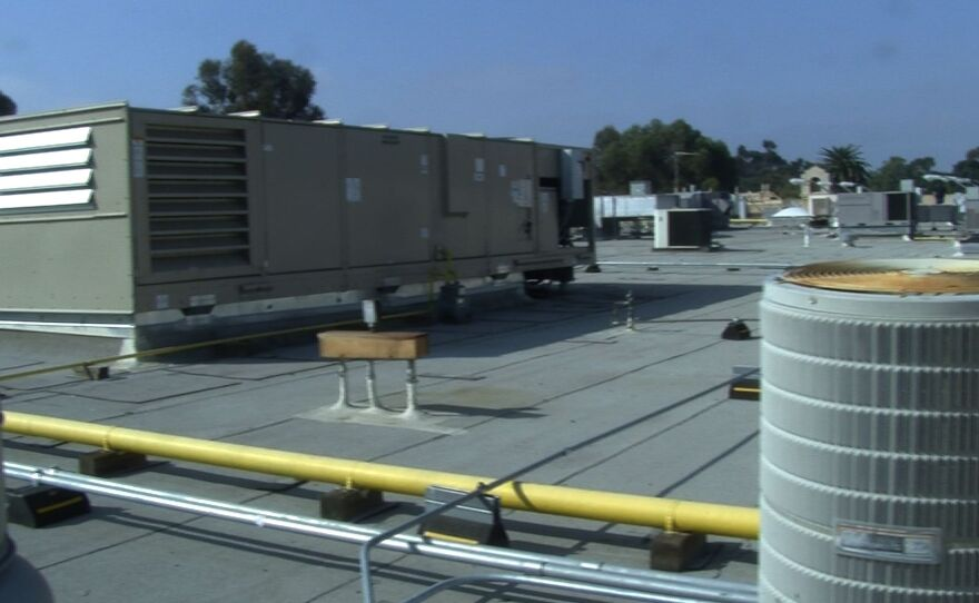 Air conditioning units on the roof of Casa De Balboa, Feb. 17, 2015.