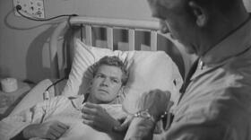 """Jim Fletcher (Bill Williams) wakes up with amnesia and finds himself accused of a crime in """"The Clay Pigeon"""" (1949). The Film is part of the San Diego Nor film series at La Jolla Athenaeum."""