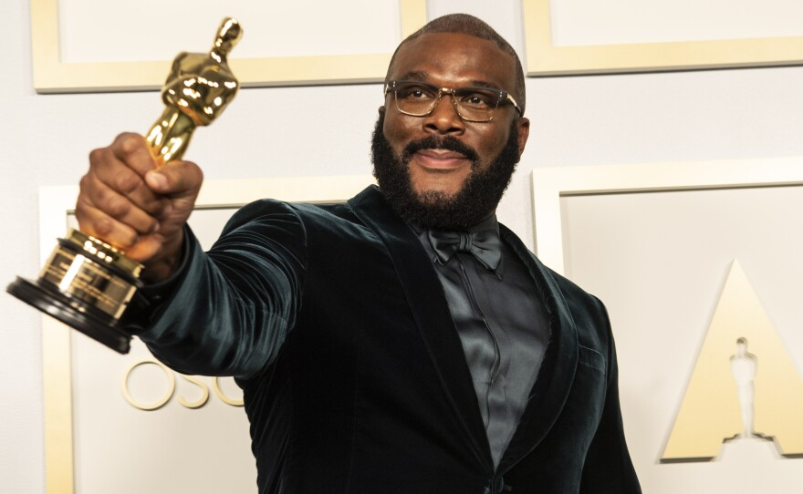 Tyler Perry was awarded the Jean Hersholt Humanitarian Award. April 25, 2021.