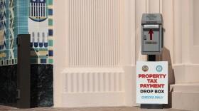 Property tax drop box in downtown San Diego.