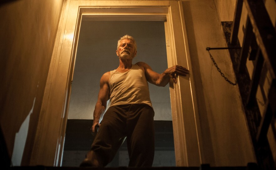 """Stephen Lang plays a blind man in """"Don't Breathe"""" but that doesn't make him a helpless victim when three kids invade his home with the intent to rob him."""