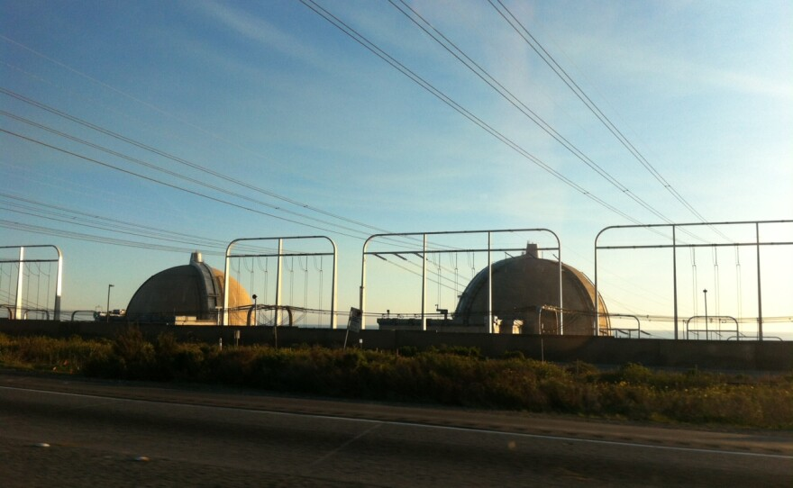 The San Onofre nuclear power plant is shown from Interstate 5, Feb. 2, 2015.
