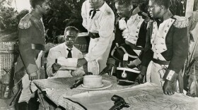 """The 20th Century Fox 1952 film """"Lydia Bailey"""" was a historical romance about two white Americans but it used the Haitian Rebellion as a backdrop and featured William Marshall (center) in a key supporting role."""