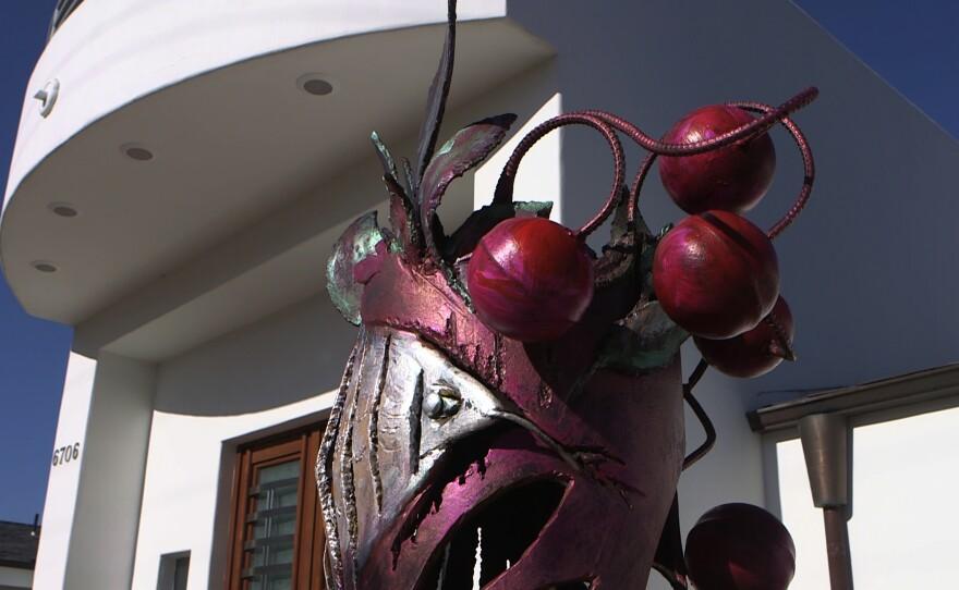"Nassar Pirasteh's sculpture named ""Eden Snake."""