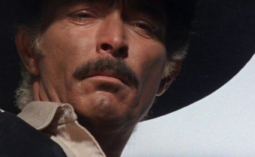 """Spaghetti westerns loved the landscape of the human face, here Lee Van Cleef stars as a lawman tracking a Mexican peasant in Sergio Sollima's """"The Big Gundown."""""""