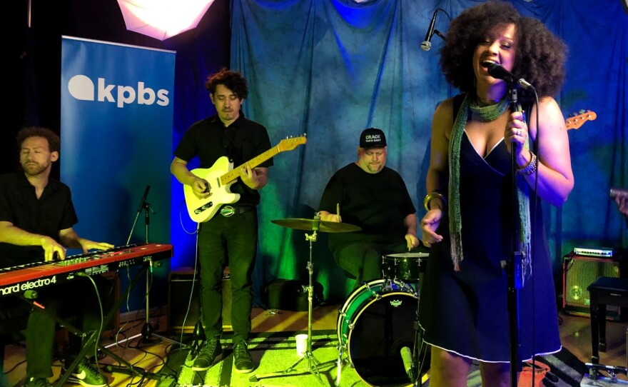 Rebecca Jade and the Cold Fact perform in the KPBS studios, July 16, 2019.