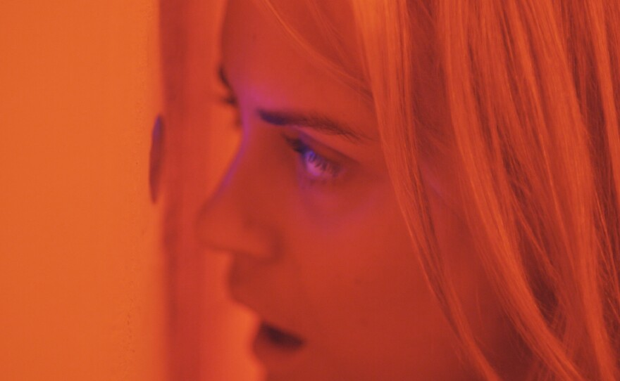 """Taylor Schilling plays Emily, a woman reluctantly drawn into another couple's sexual games in """"The Overnight."""""""