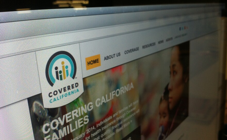 The website for the state's online health insurance exchange, Covered California, is shown in this undated photo.