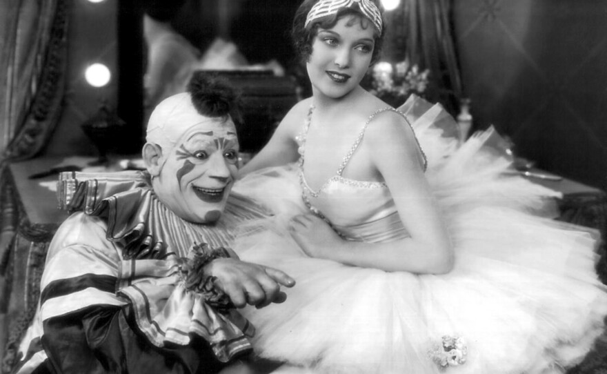 """Lon Chaney, Sr. in """"Laugh, Clown, Laugh"""" inspired by the opera """"Pagliacci."""""""