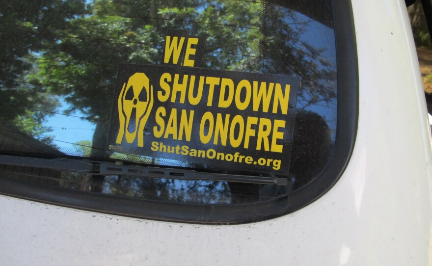 The sticker on the back of Ray Lutz's car, he is with watchdog group Citizen's Oversight.