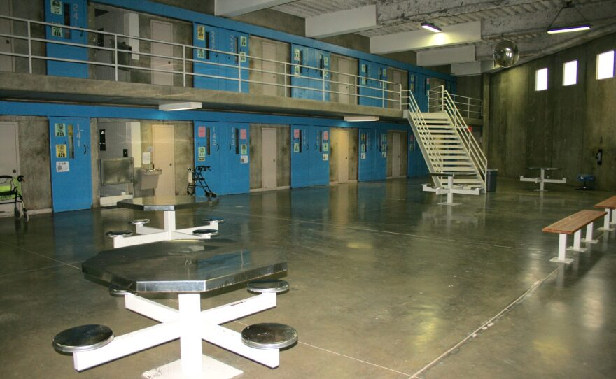 A common area for inmates in D block at the Richard J. Donovan state prison in Otay Mesa is shown in 2015.