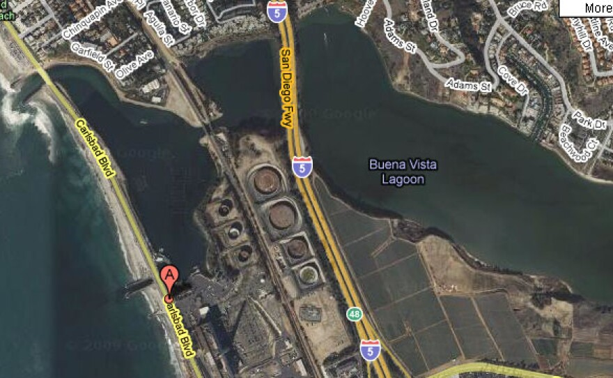 The location of the recently-approved Carlsbad Desalination Plant.