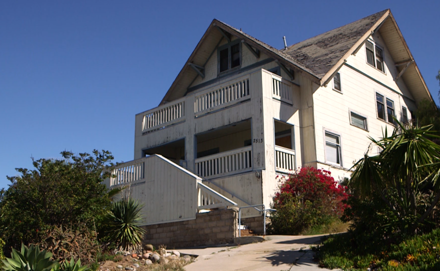 The vacant Truax House, San Diego's first AIDS hospice, Feb. 24, 2016.