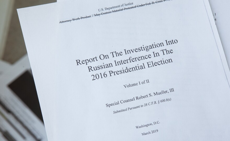 Cover of the Mueller report.