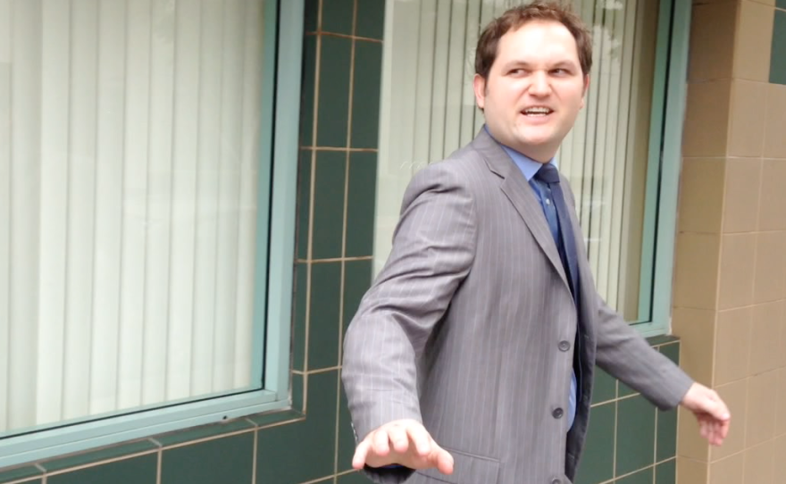 Todd Bosnich is pictured outside a San Diego courthouse in this undated photo.