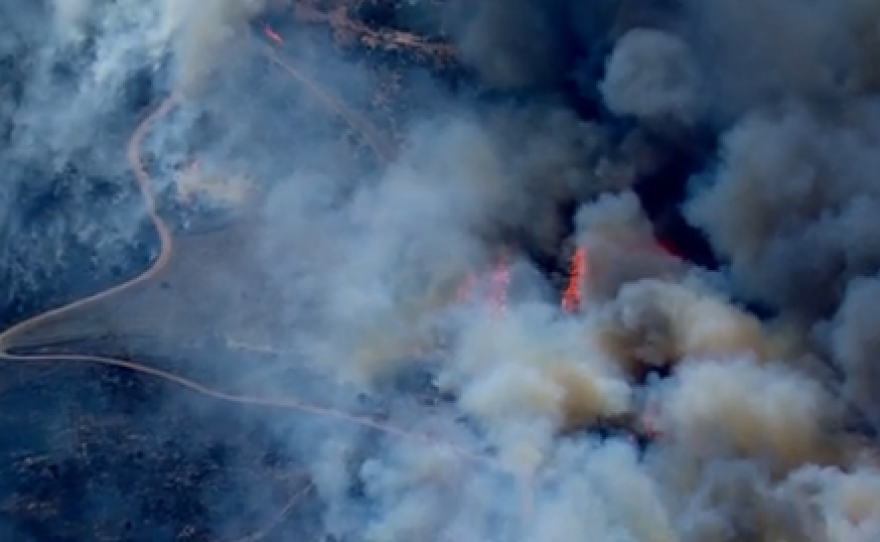 The Bernardo Fire spread quickly in northern parts of the city of San Diego on Tuesday, May 13, 2014.