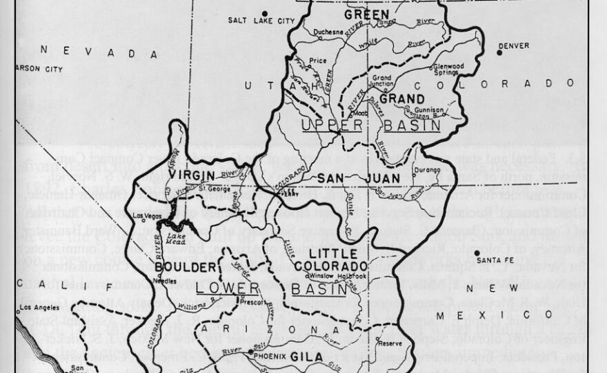 A U.S. Bureau of Reclamation illustration shows the river's varying names prior to 1921 is shown in this undated image.