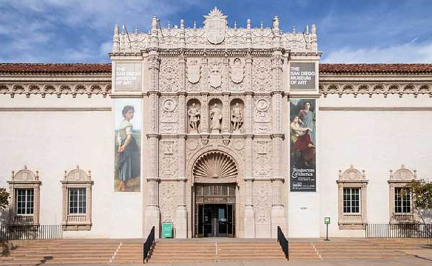 The exterior of the San Diego Museum of Art in Balboa Park is pictured in an undated photo.