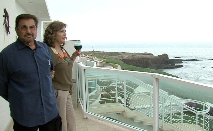 Sylvia Villavicencio and Mike Rodriguez enjoy the view of the ocean from their Tijuana condominium, April 8, 2016.