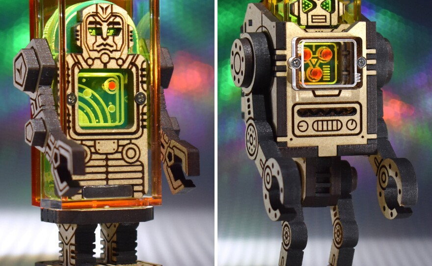 Patrick Ho's Sozotron Robots are just one of the custom toys that will be available for purchase at tonight's Batteries Not Included: A Custom Toy Show.