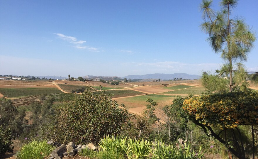 A view of the Valley Center countryside where the Lilac Hills Ranch was planned, with 1,700 homes. The project was not consistent with San Diego County's General Plan for growth, and Measure B on the November ballot failed.